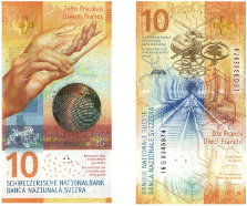 Swiss 10 franc note